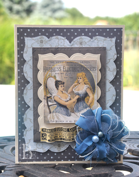 Vintage Blue card by Beth Pingry