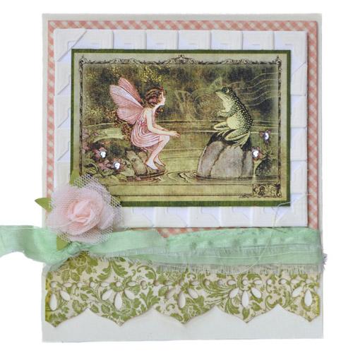 A Photo Corner Framed Fairy Card