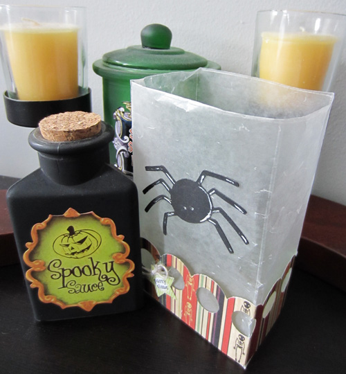 Halloween Luminary DIY by Kristen Cohen for Scrapbook Adhesives by 3L