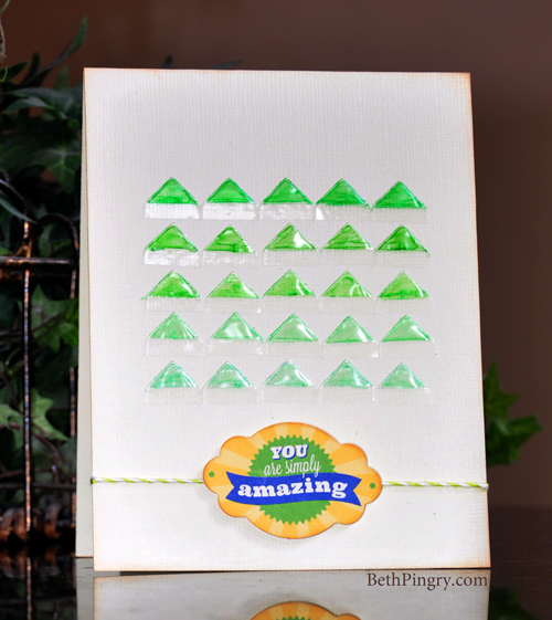 Simply Amazing Ombre Photo Corner card by Beth Pingry for Scrapbook Adhesives by 3L