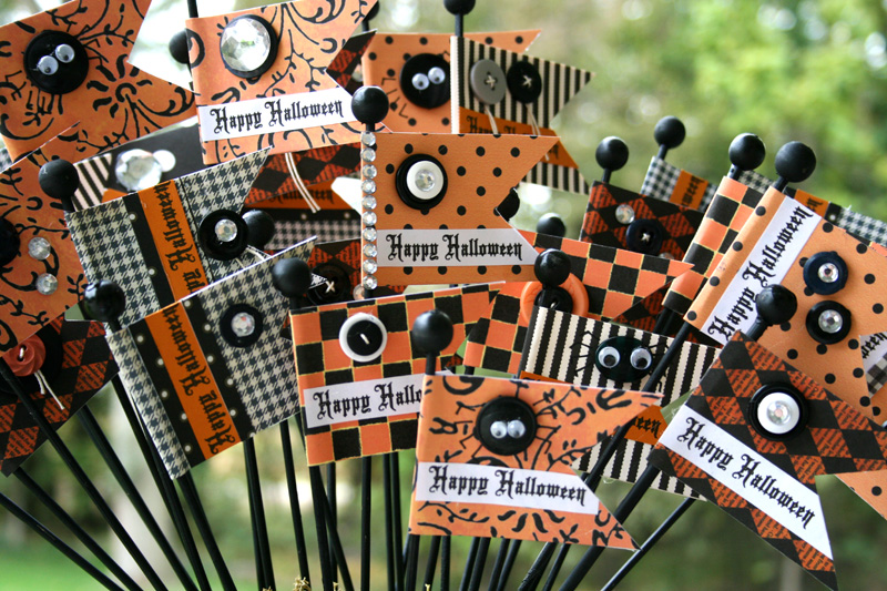 Fun Halloween Flags for Home Decor by Vicki Chrisman