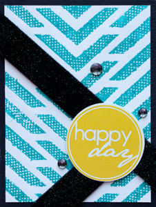 Happy Day Card - Repositionable Adhesive Resist Technique by Angela Ploegman for Scrapbook Adhesives by 3L
