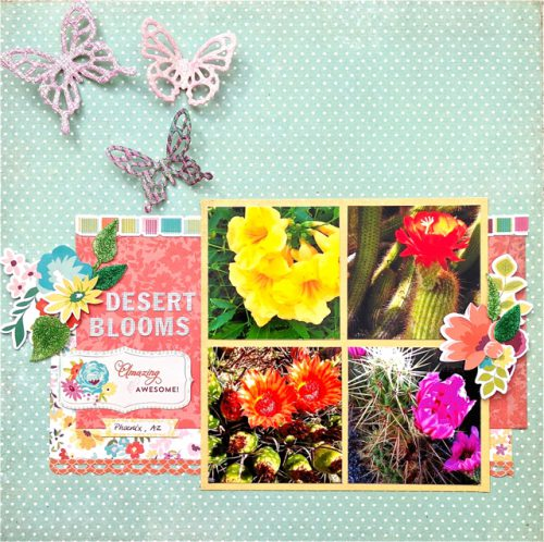 Flowery Fall Layout by Kelly Klapstein for Scrapbook Adhesives by 3L Blog