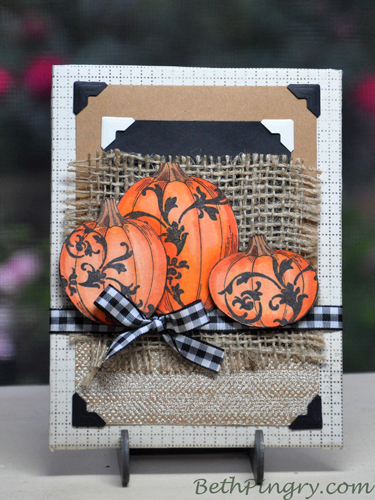 Farmhouse Pumpkin Sign tutorial by Beth Pingry for Stampendous + Scrapbook Adhesives by 3L