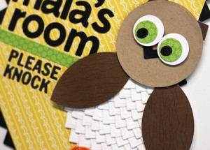 Playing with Simple Shapes-An Owl Room Banner featuring Photo Corners by Angela Ploegman