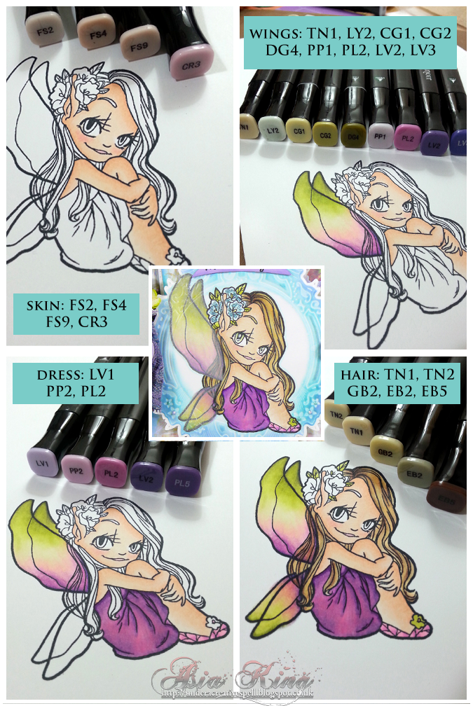 Some Odd Girl Fairy Magiccolouring with Spectrum Noir markers by Asia King