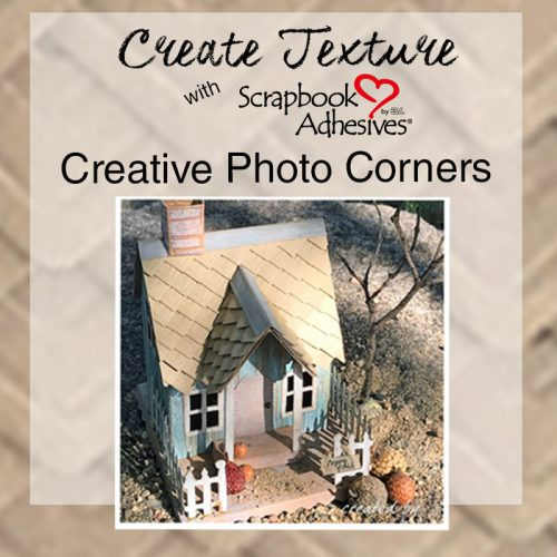 Create Texture with Creative Photo Corners blog post with 10 Unique Projects featuring Photo Corners!