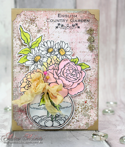 English Country Garden Stampendous Bowl Bouquet by Asia King