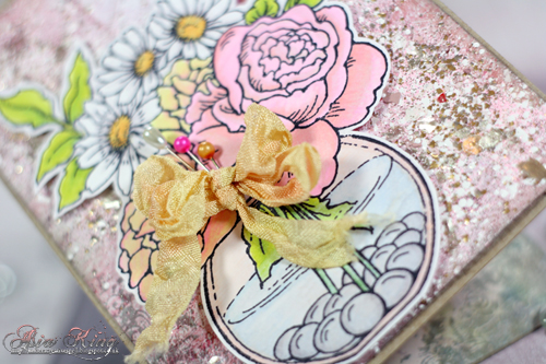 Encrusted jewel technique Stampendous kits bowl bouquet