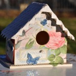 Springtime Birdhouse with Photo Corner Roof by Beth Pingry