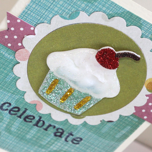 Create Your Own Roller Stamp! Celebrate Card by Angela Ploegman