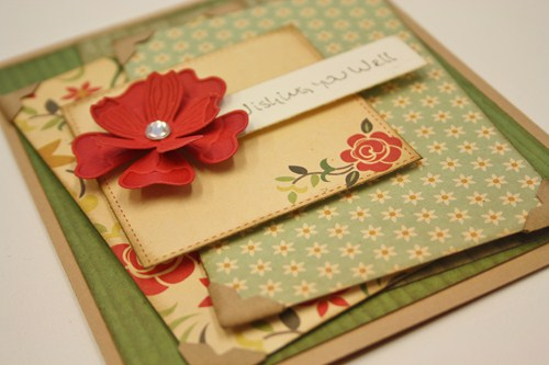 Wishing You Well Card for Scrapbook Adhesives by 3L by Christine Emberson