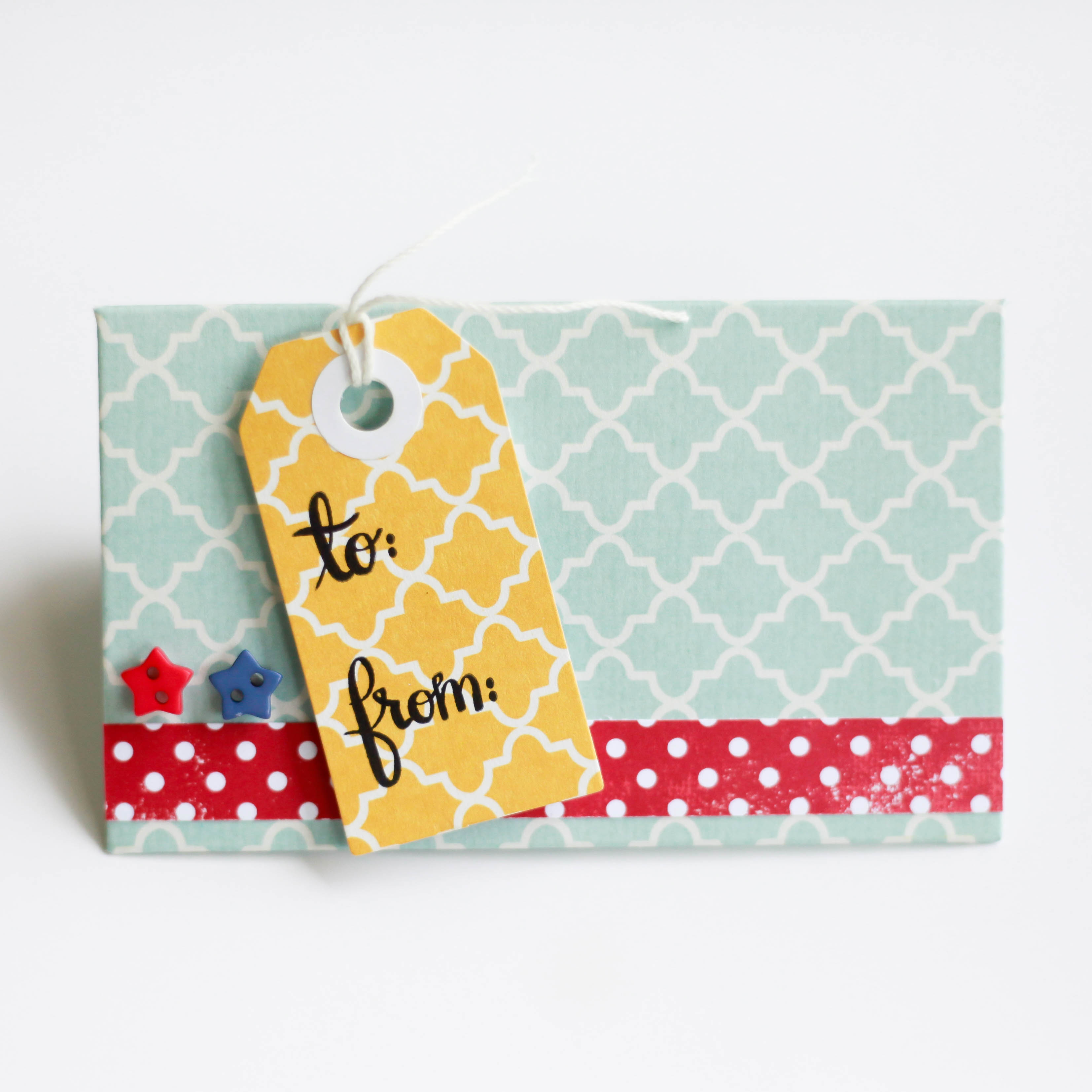 Easy Gift Card Holder by Latisha Yoast for Scrapbook Adhesives by 3L