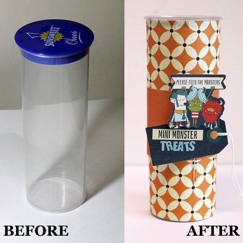 Upcycle a Container with Adhesive Sheets by Angela Ploegman for Scrapbook Adhesives by 3L
