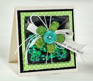 green shaker card