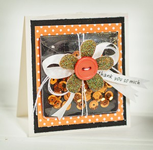 orange shaker card