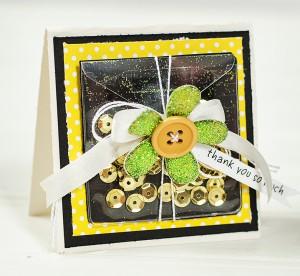 yellow shaker card