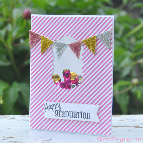 Beth Pingry Pink Graduation Card