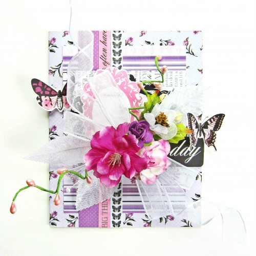 Card with Crafty Foam Tape and 3D Foam Squares by Erica Houghton