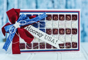 Horray USA Flag card & tutorial by Michele Kovack for Scrapbook Adhesives by 3L