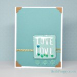 Beth Pingry - Blue Love Card and tutorial