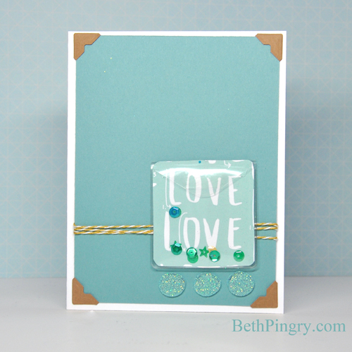 Beth Pingry - Blue Love Card Glitter & Dodz Adhesive Dots for Scrapbook Adhesives by 3L