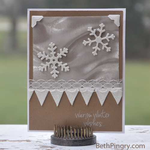 Beth Pingry Snowflake Pennant Card