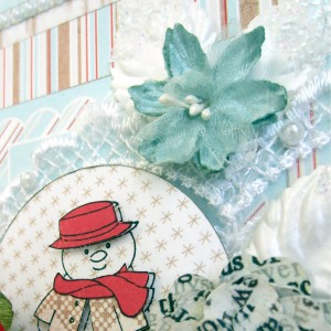 Art Impressions Snowman Card by Erica Houghton