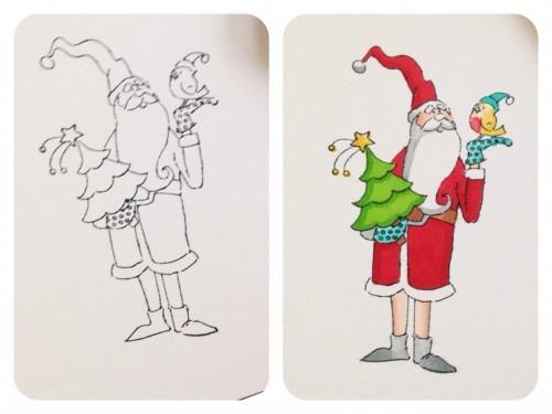 Art Impressions Winter Wishes Card by Latisha Yoast