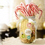 Photo Corner Gift Tag & Jar of Candy Canes by Latisha Yoast