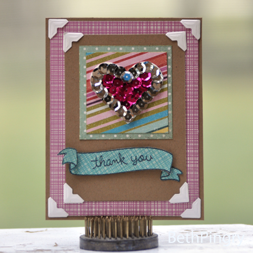 Papercrafts and Scrapbooking Blog Hop card by Beth Pingry