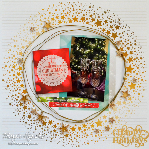 A Sparkly Christmas Page by Margie Higuchi