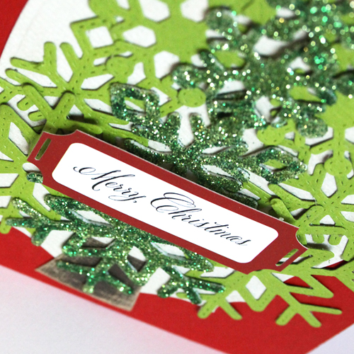 angela ploegman merry christmas card snowflake detail
