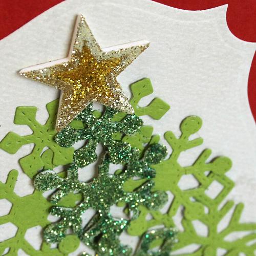 angela ploegman merry christmas card star detail