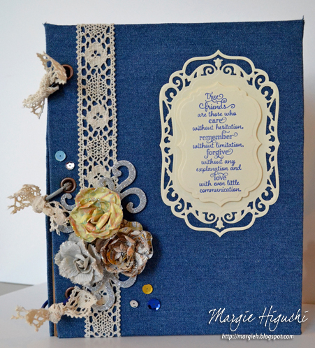 Denim Friendship Denim Book Cover Tutorial by Margie Higuchi