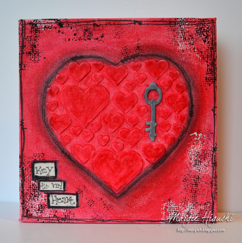 Key To My Heart Canvas by Margie Higuchi