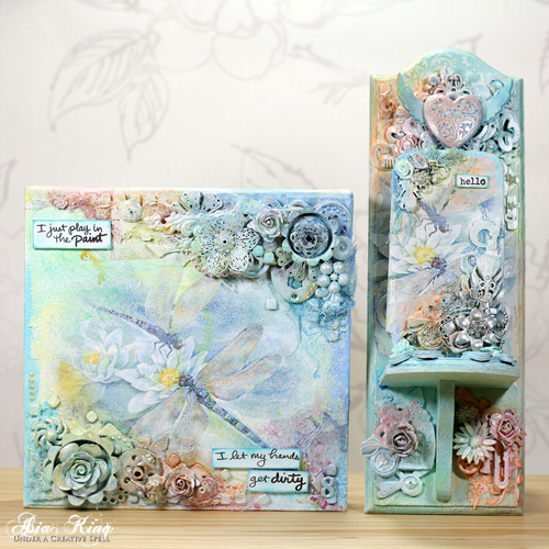 Mixed Media Dragonfly Trio by Asia King