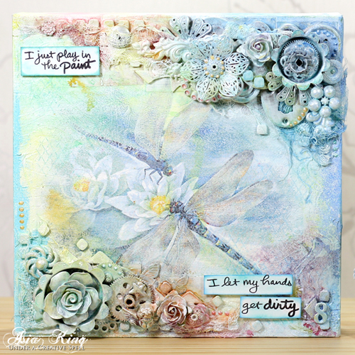 Mixed Media Dragonflies with Adhesive Sheets by Asia King for Scrapbook Adhesives by 3L