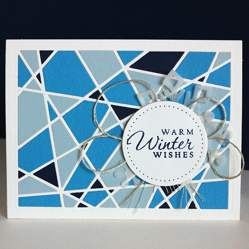 Paper Piecing with Adhesive Sheets - Warm Winter Wishes Card by Angela Ploegman