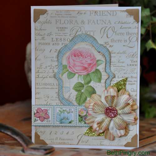 Beth Pingry - Layers of Flowers Card