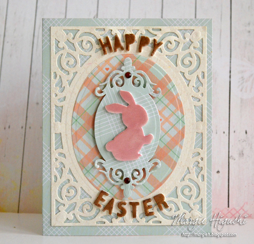 3D Foam Happy Easter Card by Margie Higuchi