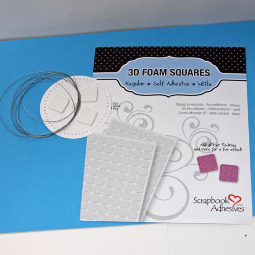 angela ploegman spellbinders thank you card 3D foam squares