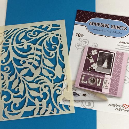 angela ploegman spellbinders thank you card die cut adhesive
