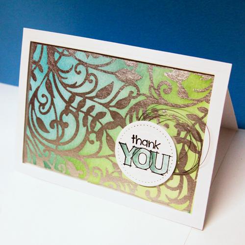 angela ploegman spellbinders thank you card