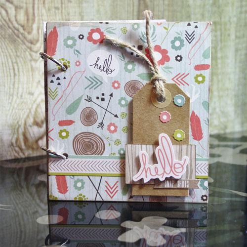 Hello Mini Pocket Album by Christine Emberson
