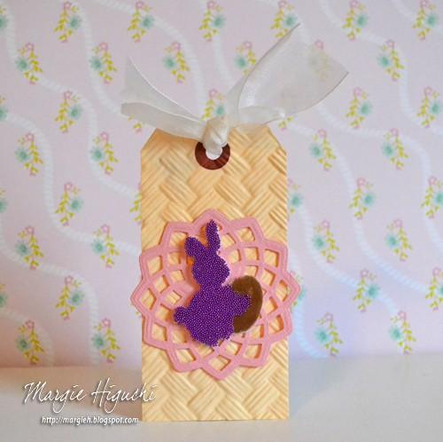 3D Easter Foam Shape Bunny Tag by Margie Higuchi