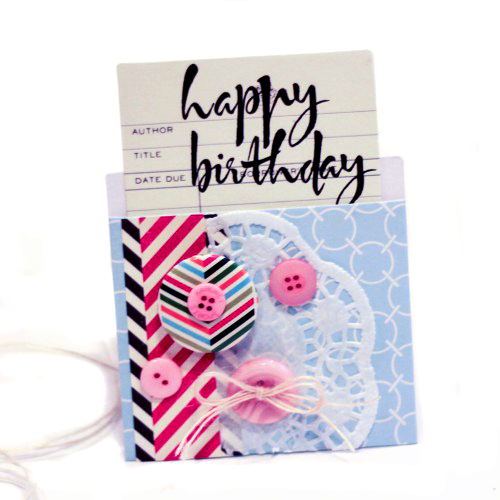 Library Card Gift Card Holder by Latisha Yoast for Scrapbook Adhesives by 3L