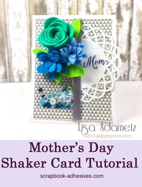 Mom's Day Card by Lisa Adametz for Scrapbook Adhesives by 3L Pinterest