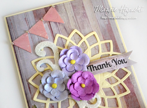 3D Foam Pennant Mother's Day Card by Margie Higuchi for Scrapbook Adhesives by 3L