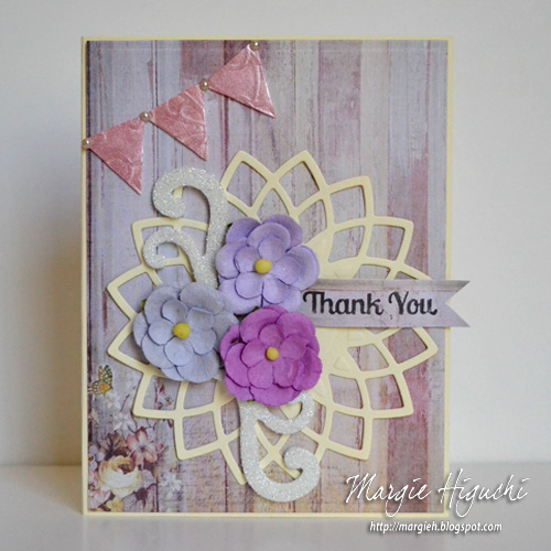 3D Foam Pennant Mother's Day Card by Margie Higuchi
